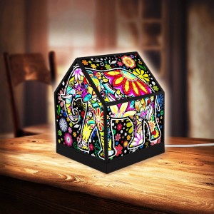 Pintoo 3D Puzzle 208 - House Lantern - Cheerful Elephants