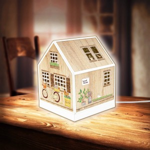 Pintoo 3D Puzzle 208 - House Lantern - Little Wooden Cabin