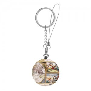 Pintoo 3D Puzzle 24 - Keychain - Antique World Map