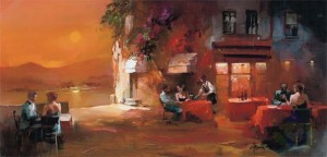 Art Puzzle 1000 - Willem Haenraets: Dinner for Two