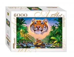 Step Puzzle 6000 - Magnificent Tiger