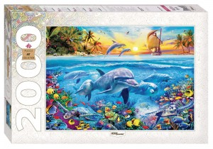 Step Puzzle 2000 - Dolphin Paradise