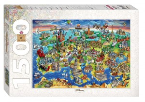 Step Puzzle 1500 - Attractions of Europe