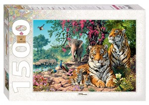 Step Puzzle 1500 - Tigers