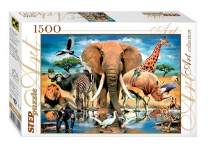 Step Puzzle 1500 - World of Animals