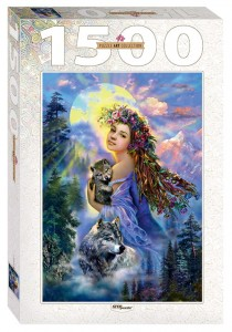 Step Puzzle 1500 - The Woman and the Wolves