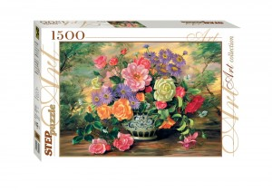 Step Puzzle 1500 - Flowers in a vase