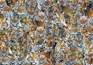 Otter House Puzzle 500 - Impossible Puzzle - Tigers