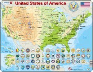 Larsen 90 - Map of the United States (in English)
