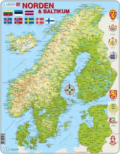 Larsen  75 - Map of the Nordic Countries