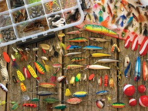 Cobble Hill / Outset Media  500 XXL Pieces - Fishing Lures