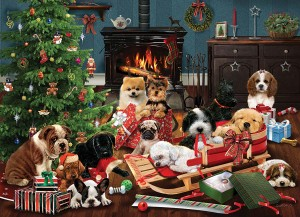 Cobble Hill / Outset Media  500 XXL Pieces - Christmas Puppies