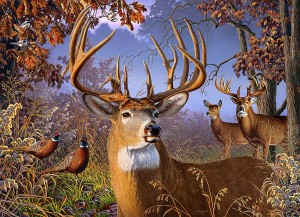 Cobble Hill / Outset Media  500 XXL Pieces - Deer and Pheasant