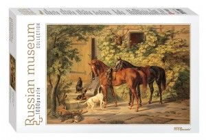 Step Puzzle 1000 - Russian Museum - Adam Albrecht. Horses at the Porch