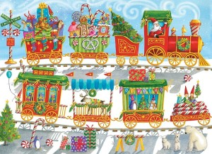 Cobble Hill / Outset Media  350 XXL Pieces - Christmas Train