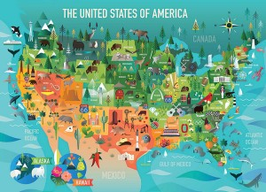 Cobble Hill / Outset Media  350 XXL Pieces - The United States of America