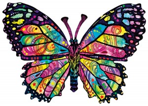 SunsOut 1000 - Dean Russo - Stained Glass Butterfly
