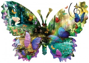 SunsOut 1000 - XXL Pieces - Alixandra Mullins - Forest Butterfly