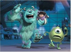 Ravensburger 100 XXL - Disney Pixar Collection: Sully, Mike & Boo