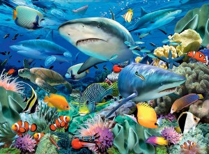 Ravensburger 100 XXL - Reef of the Sharks