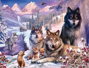 Ravensburger 2000 - Wolves in the Snow