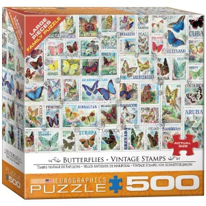 Eurographics 500 XXL – Vintage Stamps - Butterflies