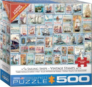Eurographics 500 XXL – Sailing Ships - Vintage Stamps