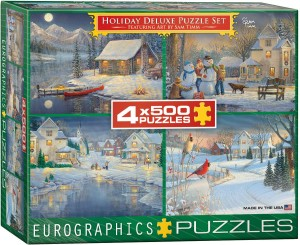 Eurographics 500 x 4 - Sam Timm: Holiday Deluxe Puzzle Set