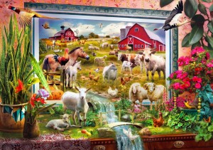 Bluebird Puzzle 1000 - Jan Patric Krasny - Magic Farm Painting