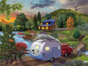 SunsOut 1000 - Bigelow Illustrations - Campers Coming Home