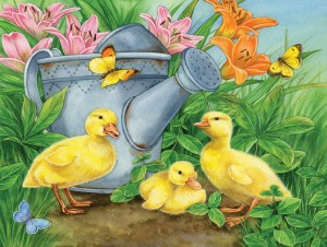 SunsOut 300 - Jane Maday - Ducklings and Butterflies