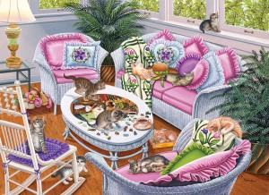 SunsOut 1000 - Higgins Bond - Ten Tabbies