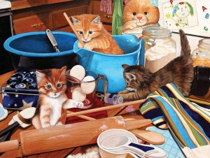 SunsOut 1000 - Julie Bauknecht - Kittens in the Kitchen