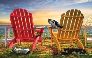 SunsOut 1000 - Celebrate Life Gallery - Cat Nap at the Beach