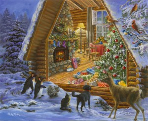 SunsOut 1000 - Jane Maday - Christmas Cabin
