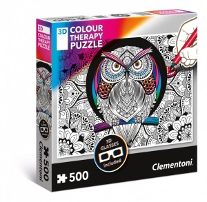 Clementoni 500 3D Color Therapy Sowa
