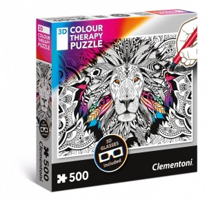 Clementoni 500 3D - Color Therapy Lew