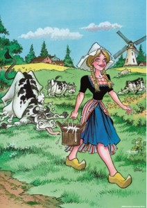 PuzzelMan 1000 - Rooie Oortjes: The Milkmaid