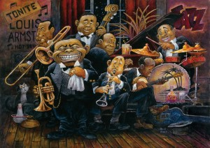 Art Puzzle 1500 - Bill Bell: Louis Armstrong
