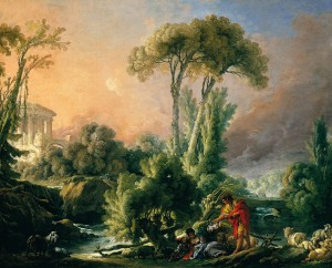 D-Toys 1000 - François Boucher: River Landscape with an Antique Temple