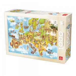 D-Toys 1000 - Cartoon Collection - Map of Europe