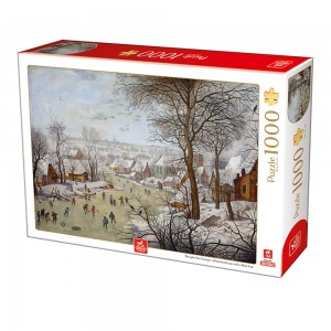 D-Toys 1000 - Breughel the Younger - Winterlandscape with a Bird Traps