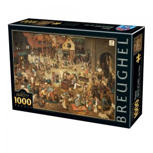 D-Toys 1000 - Pieter Brueghel the Elder - The Fight Between Carnival and Lent