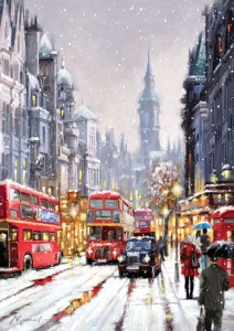 Art Puzzle 1500 - Whitehall in Snow