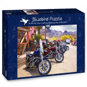 Bluebird Puzzle 1000 - Rt 66 Fun Run Oatman Motorcycles 4-16 8377