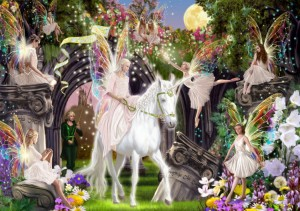 Bluebird Puzzle 1000 - Fairy Queen with Unicorn