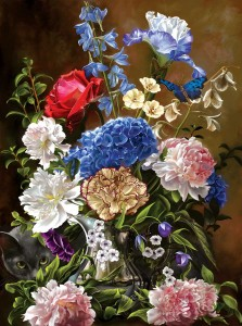 SunsOut 1000 - Bouquet in Blue