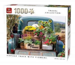 King International 1000 - Vintage Truck with Flowers