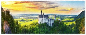 Pintoo 4000 -  Plastic Puzzle - Sunset of Neuschwanstein Castle, Germany