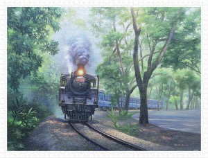 Pintoo 1200 Plastic Puzzle - Lai Ying Tse - The Whistle in Green Tunnel - Jiji Line Railway